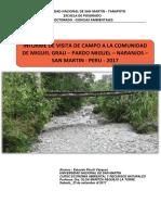 Informe de Visista de Campo - Miguel Grau - Naranjos