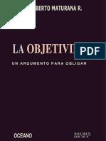 3 La Objetividadad- Maturana Humberto