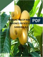 Manual Haccp Nispero Japones Fresco Viña Saman s