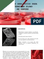 Determinacion de Plomo en Sangre -