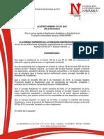 Acuerdo 012 de 2015 - Reglamento Estudiantil Final
