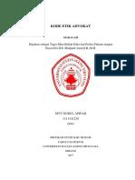 MAKALAH ETIKA DAN PROFESI - Etika Profesi Advokat --- Revisi