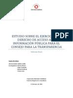Estudio Sobre El Ejercicio Del Derecho de Acceso a La Informacion