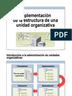 Implementación de La Estructura de una Unidad Organizativa