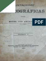 Amunátegui, Miguel Luis- Apuntaciones Lexicográficas [Tomo I]