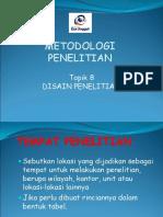 Topik 10 Disain Penelitian Mulyo Wiharto