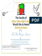 the pat hayden award