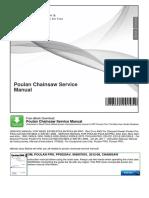 Poulan Chainsaw Service Manual