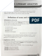 Definition of Literary Terms and Concepts