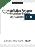 25 Nonfiction Passages With Vocab Build'g Crosswords
