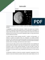 Asteroides en El Universo