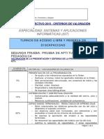 113904-Criterios Calificación Segunda Prueba Sistemas y Aplicaciones Informática