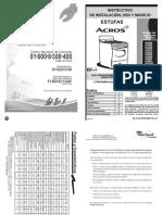 Manuales de Instlacion Cocinas Acros