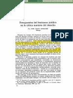 José Calvo - Presupuestos Del Fenómeno Jurídico en La Critica Marxista Del Derecho