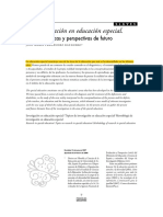 La Investigación en Educación Especial
