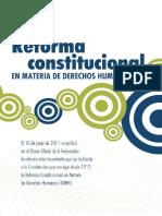 Folleto Reforma Constitucional en Materia de Derechos Humanos