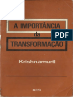 A importância da transformação - Jiddu Krishnamurti