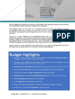 Budget 2018 Guide - Liam Burns and Co