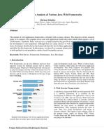 Performance Analysis of Various Java Web Frameworks