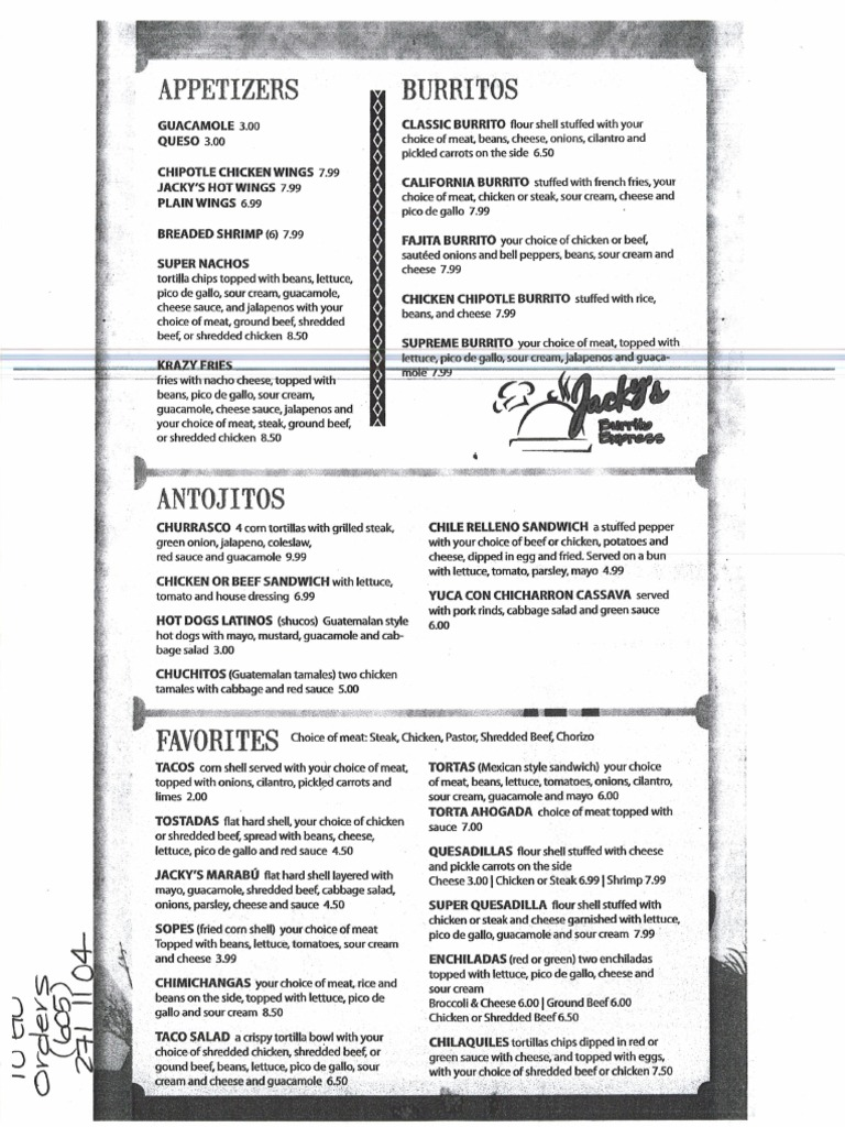 This is a picture of Printable Chipotle Menu throughout applebee's