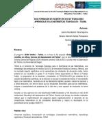 Programa de formación de docentes en uso de tecnologías digitales para el aprendizaje de las matemáticas TEAM Galileo – Tolima. (Universidad de Ibagué)