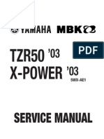 Yamaha TZR 50 03 -Service Manual