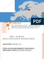 educational system in lithuania