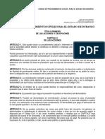 Codigo de Proc. Civiles Durango