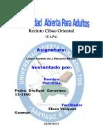 Tarea 3 de Lengua Española Basica 1
