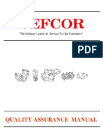SEFCOR SEFCOR Quality Assurance Manual