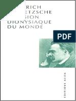 Nietzsche, Friedrich  - La vision dionysiaque du monde .pdf