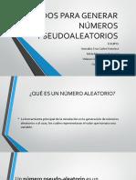 Métodos Para Generar Números Pseudoaleatorios
