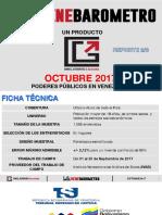Venebarómetro Octubre 2017 EDICIÓN ESPECIAL PODERES PUBLICOS