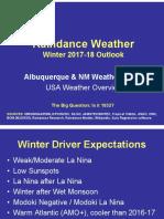 Winter 2017-18 Outlook