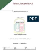 La Epistemologia y Su Desarrollo (Tarea Colegio)