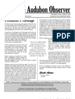 November 2009-December 2009-January 2010 Audubon Observer Newsletter Duval Audubon Society