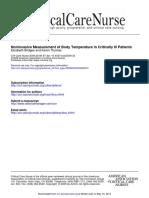 Noninvasive Measurement of Body Temperature in Critically Ill Patients