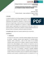 """La alegría de leer"""" estrategia pedagógica para mejorar la competencia lectora de los estudiantes de grado 3 de primaria (Institución Educativa Agustín Codazzi. Neiva, Huila)"""