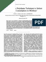 Polidipsia en Monos Alcohol