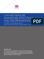 Can We Measure HIV Stigma and Discrimination 2006
