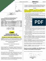Acdo. SAT 06-2017 autoriza a SAT modifique características Papel Sellado Especial para Protocolo