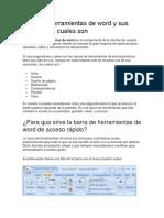 Barra de Herramientas de Word y Sus Funciones y Cuales Son