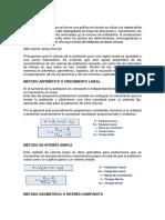 Metodos Para Calcular Poblacion de Diseño