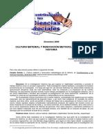 Cultura Material y Renovacion Metodologica de La Historia PDF