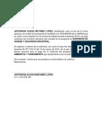 Documento Tesorería