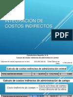 Integración de Costos Indirectos - Directos