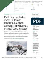 Polémico Contrato Entre Endesa y Municipio de San Clemente Involucra a Central Los Cóndores _ EL CENTRO - Noticias y Actualidad de La Región Del Maule
