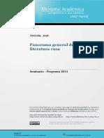 Panorama General de La Literatura Rusa