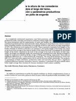 Efecto de La Altura de Los Comederos Sobre El Largo Del Tarso,Pigmentacion y Parametros Productivos en Pollo de Engorda