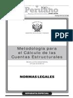 Metología Para El Cálculo de Las Cuentas Estructurales - 2016